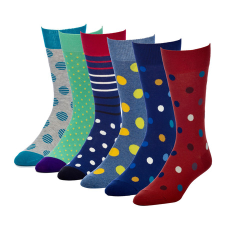 Charisma Modest Crew Sock // Pack of 6