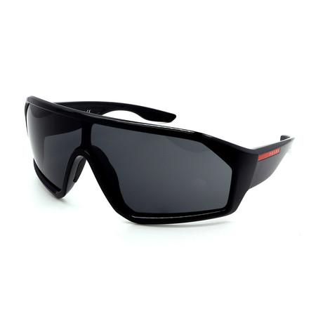 Prada Sport // Men's PS03VS-1AB5SO Wrap Sunglasses // Black + Gray
