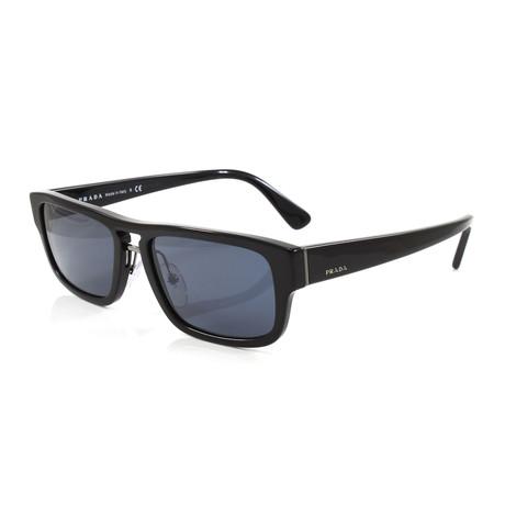 Prada // Unisex PR05VS Sunglasses // Black + Blue Gray