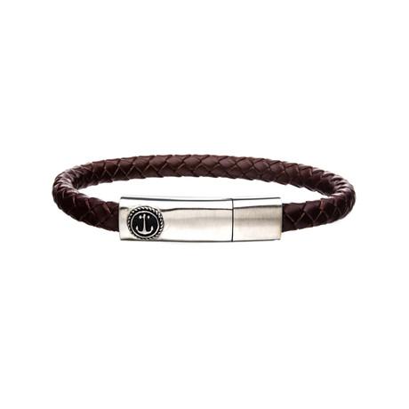 Anchor Bar Bracelet // Brown