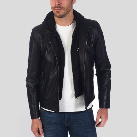 Ceylanpinar Leather Jacket // Black (L)