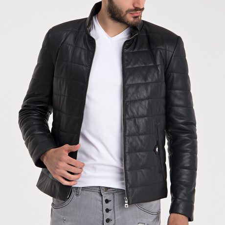 Emirhan Leather Jacket // Black (L)