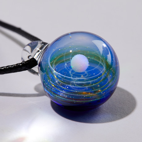 Galaxy Globe Necklace (Blue)