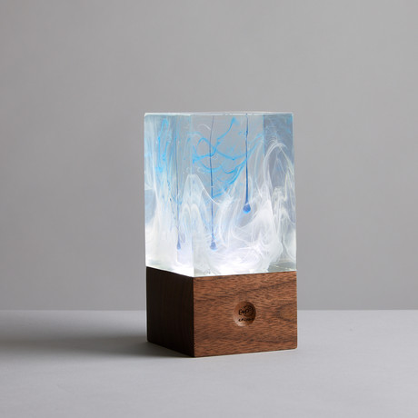 Resin Table Lamp // Ice