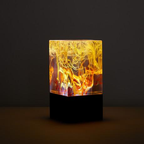 Resin Table Lamp // Fire (Bulb + Base)