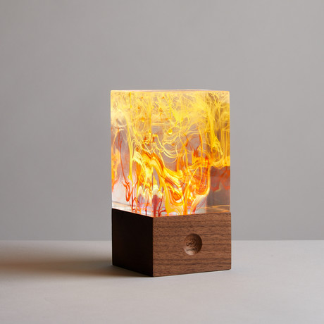 Resin Table Lamp // Fire