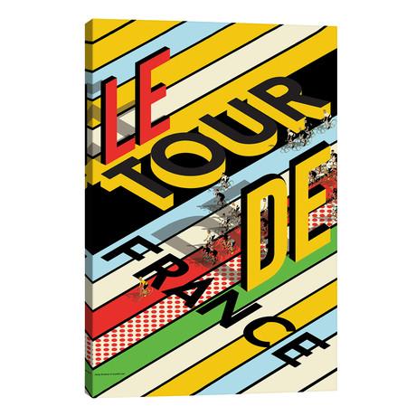 "Tour De France Peloton // WyattDesign (26""W x 40""H x 1.5""D)"