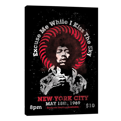 """Jimi Hendrix Experience 1969 U.S. Tour At Madison Square Garden Tribute Poster // Radio Days (18""""W x 26""""H x 1.5""""D)"""