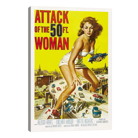 Attack of The 50 Foot Woman Vintage Movie Poster // Reynold Brown