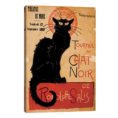 "Tournee du Chat Noir Advertising Vintage Poster // Unknown Artist (26""W x 40""H x 1.5""D)"