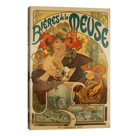 Bieres de La Meuse (Meuse Beer) Advertisement, 1897 // Alphonse Mucha