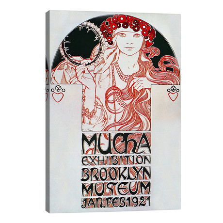 "Brooklyn Exhibition (1921) // Alphonse Mucha (26""W x 40""H x 1.5""D)"