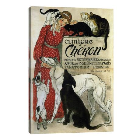 "Clinique Cheron Advertising Vintage Poster // Unknown Artist (26""W x 40""H x 1.5""D)"