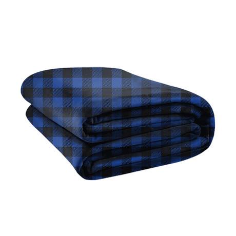 Original Stretch Blanket // Blue Plaid