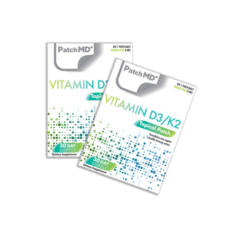 Vitamin D3/K2 Topical Patch // 2 Pack