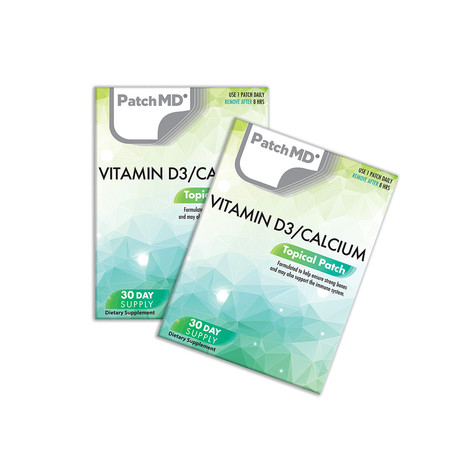 Vitamin D3/Calcium Topical Patch // 2 Pack
