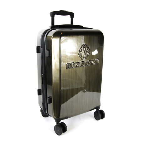 Classic Logo Wood Look Finish Carry-On Luggage // Bronze