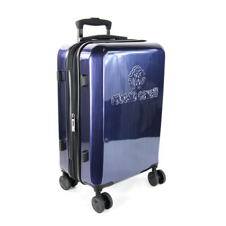 Classic Logo Wood Look Finish Carry-On Luggage // Plum