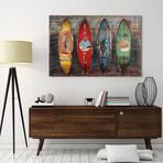 Canoes // Iron Wall sculpture + Wooden Wall Art