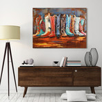 LineDance // Mixed Media Iron Hand Painted Dimensional Wall Art