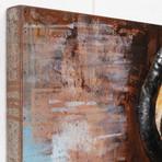 Gas Pump // Mixed Media Iron Hand Painted Dimensional Wall Art