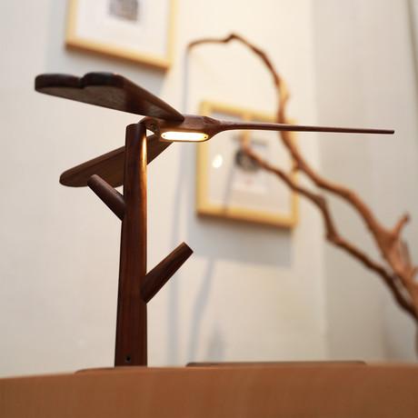 Dragonfly Lamp // Black Walnut