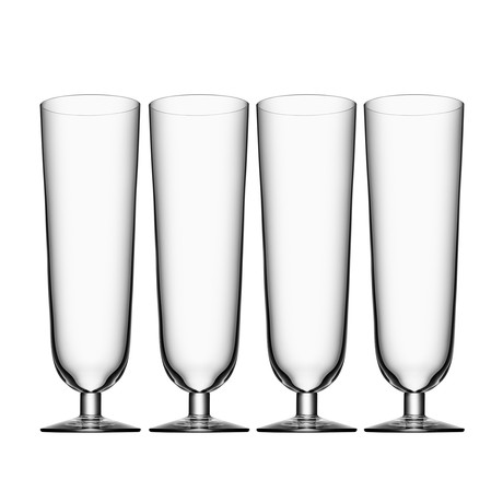 Beer Pilsner Glass // Set of 4