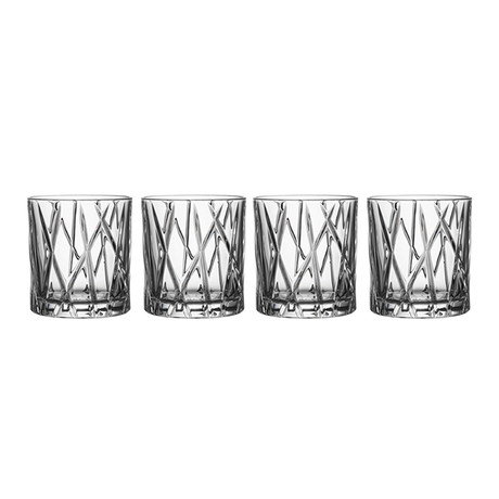City Old Fashioned Glass // Set of 4
