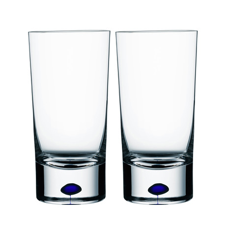 Intermezzo Tumbler Glass // Blue // Set of 2