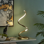 Modern Spiral Table Lamp // LED Strip (Gold)