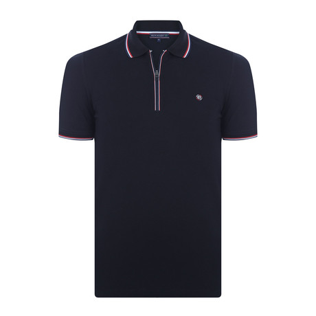 Dylan Short-Sleeve Polo Shirt // Black (XL)