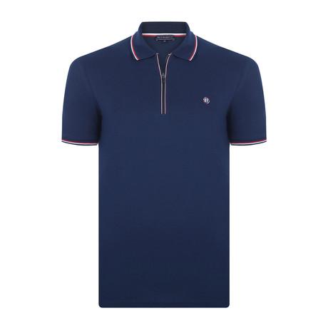 Lee Short-Sleeve Polo Shirt // Navy (XS)
