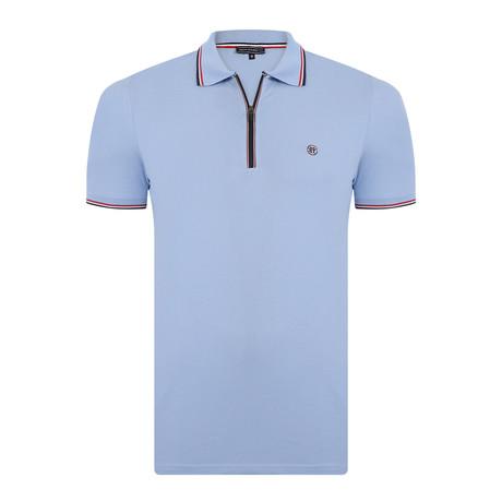 Alfie Short-Sleeve Polo Shirt // Blue (XS)