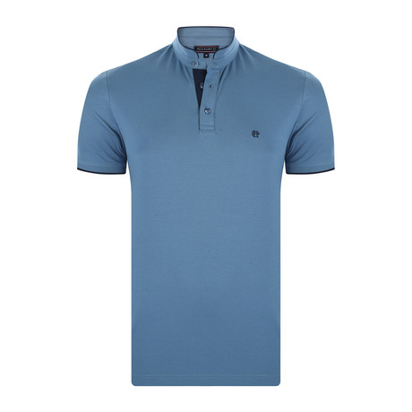 Declan Short-Sleeve Polo Shirt // Indigo (XS)