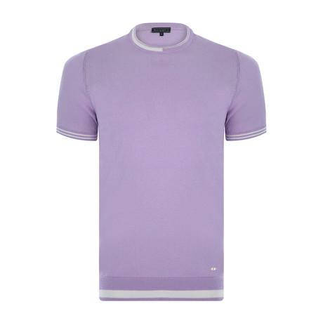 Larry Neck Knitwear T-Shirt // Lilac (XS)