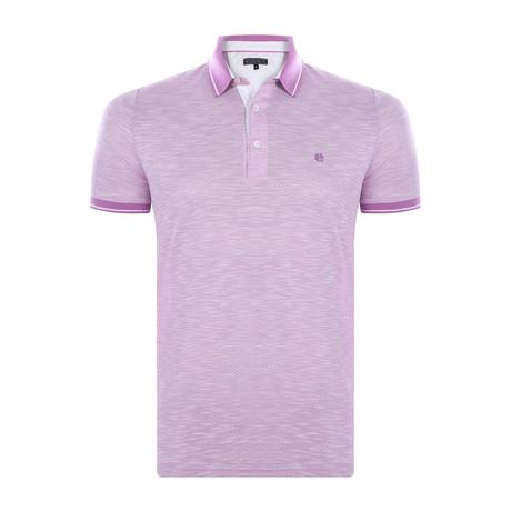 Anthony Short-Sleeve Polo Shirt // Purple (XS)