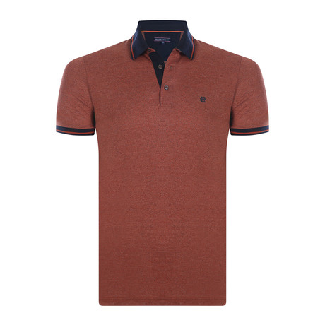 Edwin Short-Sleeve Polo Shirt // Orange (XS)