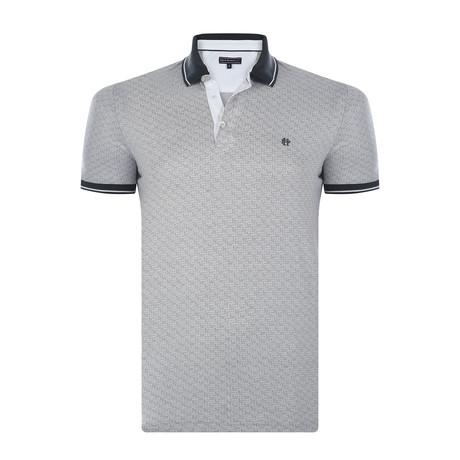 Omar Short-Sleeve Polo Shirt // White + Gray (XS)