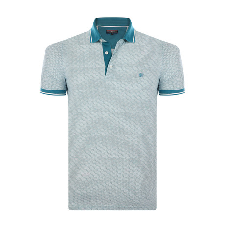 Ernest Short-Sleeve Polo Shirt // White + Green (XL)