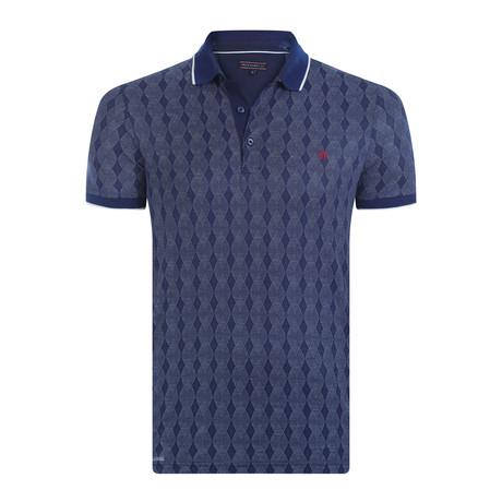 Frankie Short-Sleeve Polo Shirt // Navy (XS)