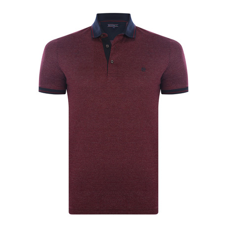 Cleo Short-Sleeve Polo Shirt // Bordeaux (XS)