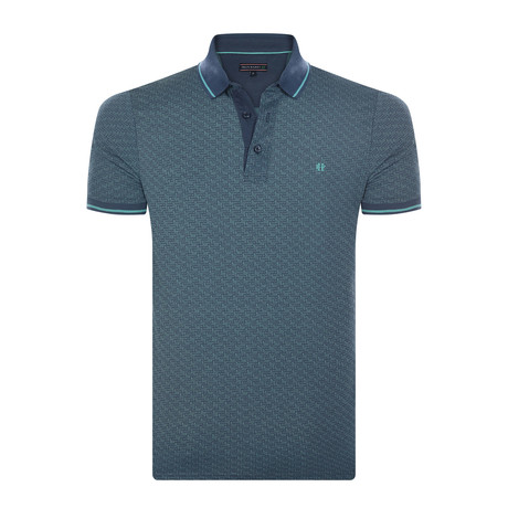 Damien Short-Sleeve Polo Shirt // Indigo (M)
