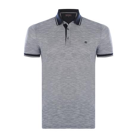 Musa Short-Sleeve Polo Shirt // Navy (S)