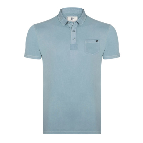 Darby Short-Sleeve Polo Shirt // Blue (XS)