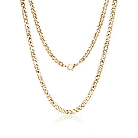 Cuban Link Choker Necklace (White)