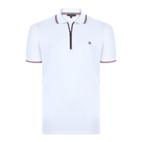 Ian Short-Sleeve Polo Shirt // White (XS)