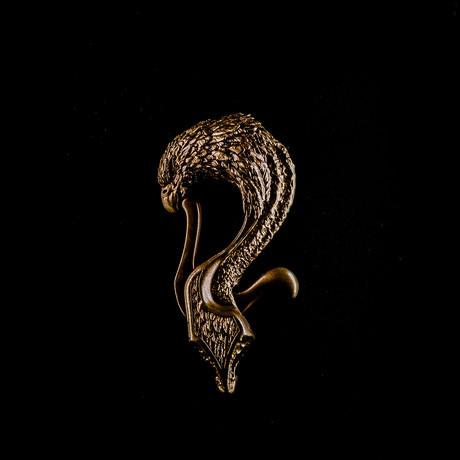 Eagle Clip // Keyring // Brass