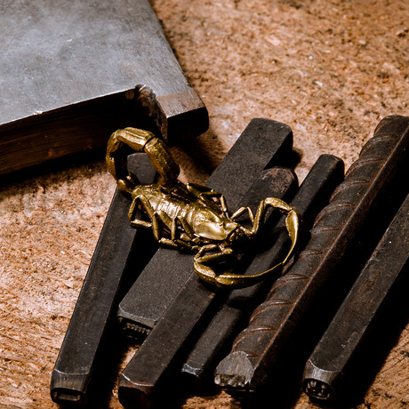 Scorpion // Keyring // Brass