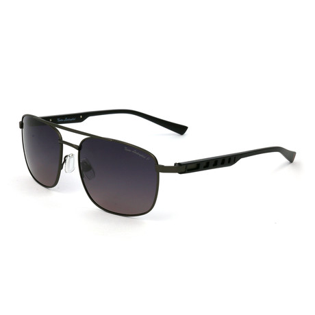 Men's TL317S S02 Polarized Sunglasses // Gunmetal + Black