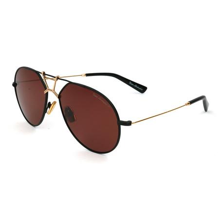 Men's TL910S S02 Polarized Sunglasses // Black + Gold